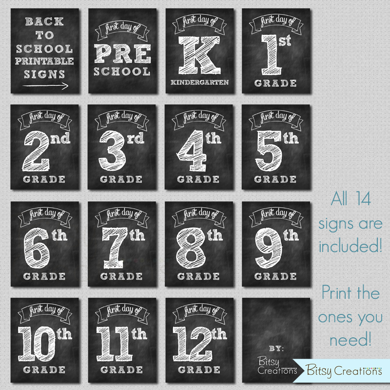 photograph relating to Chalkboard Printable called 1st Working day of College or university Printable Chalkboard Symptoms Quick Down load