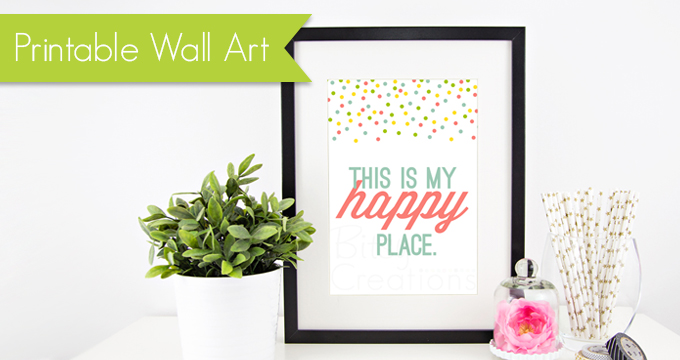 Printable Wall Art from BitsyCreations