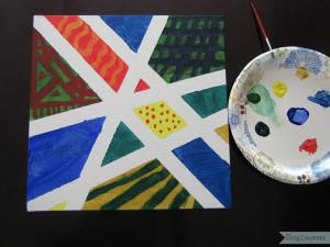 Painters Tape Canvas Art 6