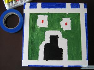Painters Tape Canvas Art 5