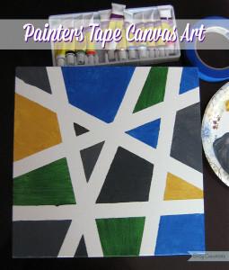 Painters Tape Canvas Art 2