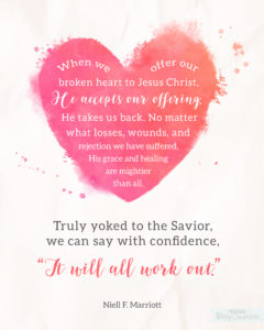 Broken Heart Free Printable from BitsyCreations - Neill F. Marriott #LDSCONF