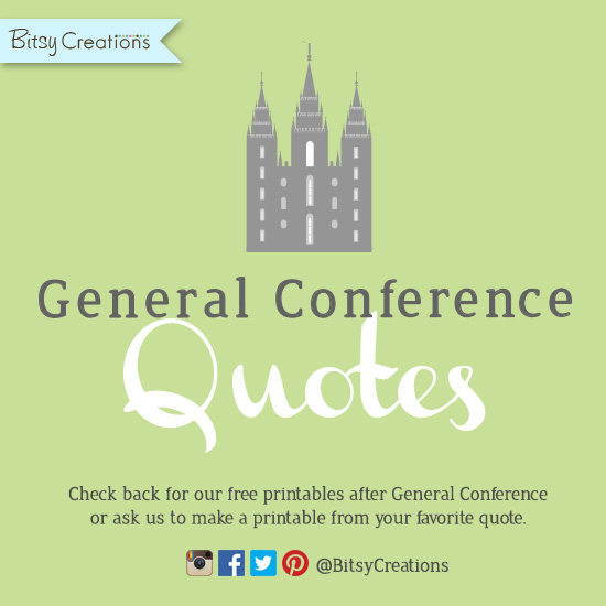 General Conference Freebies