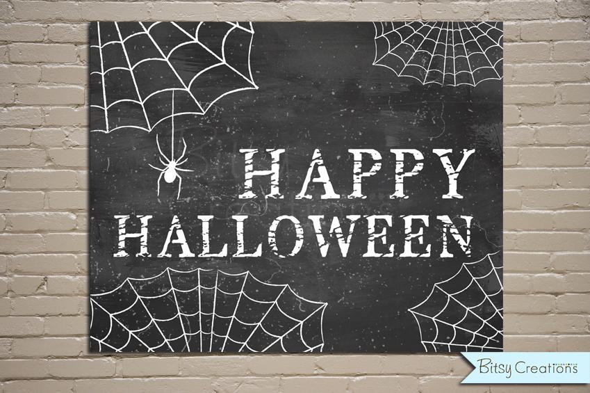 - Halloween Spider Chalkboard Printable Wall Art