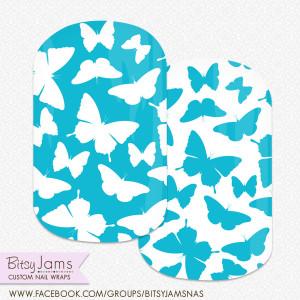 ButterfliesinAqua_Nail