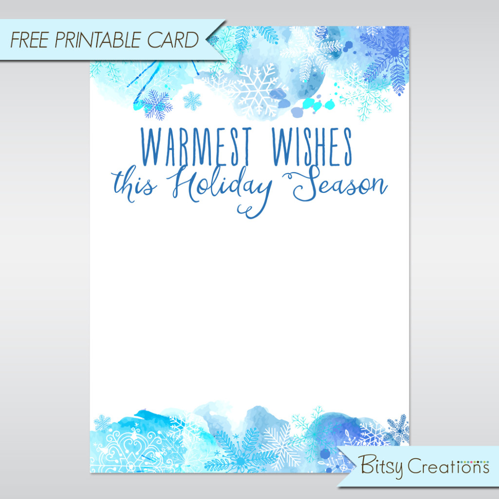 free holiday card printable from bitsycreations