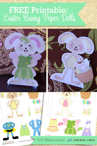 movable easter bunny paper doll free printable easter bunny paper dolls 6940