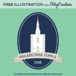 Philadelphia Temple Illustration Freebie