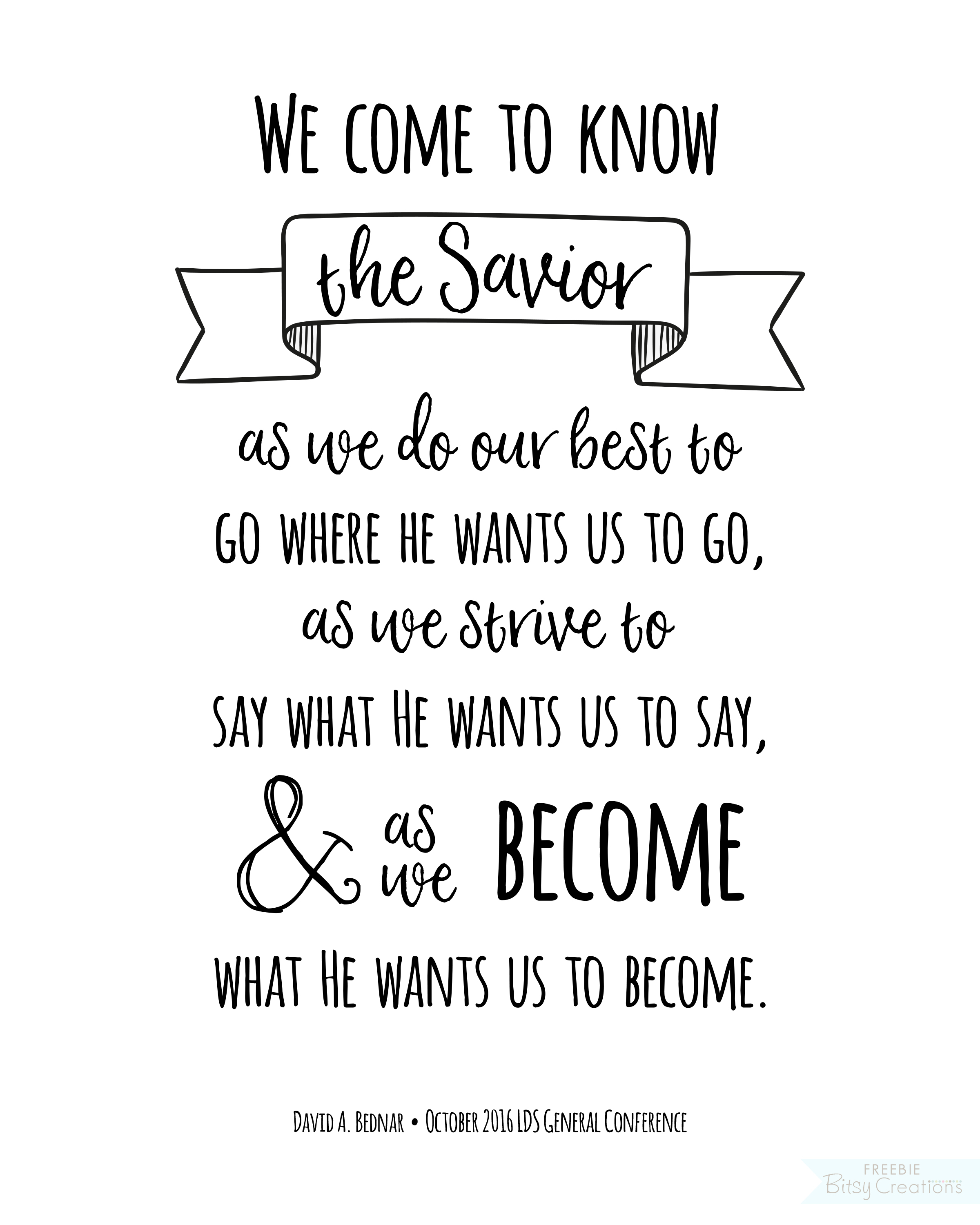 The General Quote Fair October 2016 General Conference Free Printables  Quote Art From