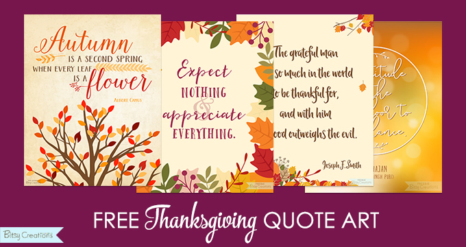 Free Thanksgiving Printables – Quote Art