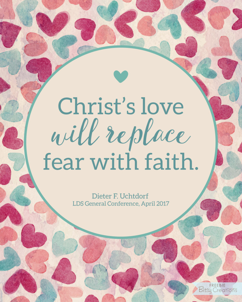 #ldsconf April 2017 - Dieter F. Uchtdorf - Christ's Love - Free Printable from BitsyCreations