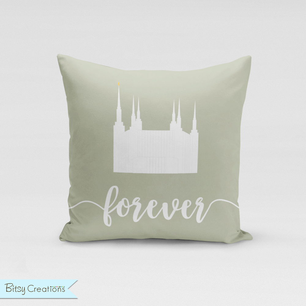 D.C. Temple Pillow Cover from BitsyCreations