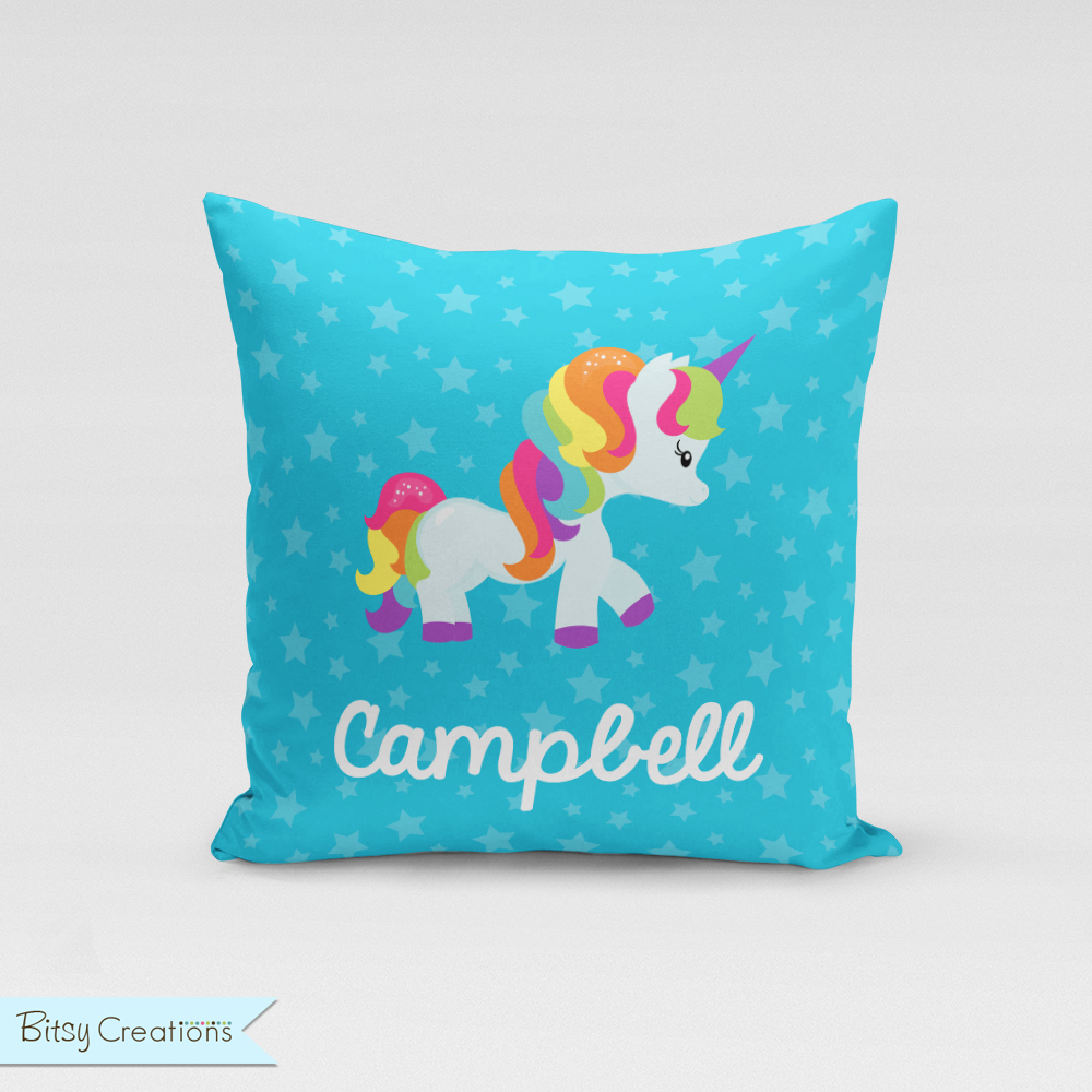 Personalized Unicorn Throw Pillow