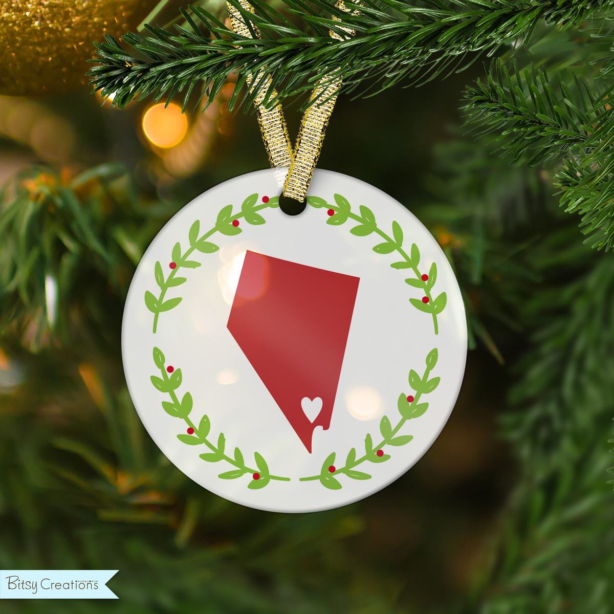 Christmas Ornaments Online Shopping Europe: Custom State Ornament