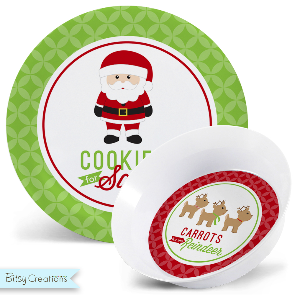 Cookies For Santa Plate Carrots For Reindeer Bowl Set With Add On Mug