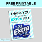 Extra Gum Thank You – Free Printable for Primary
