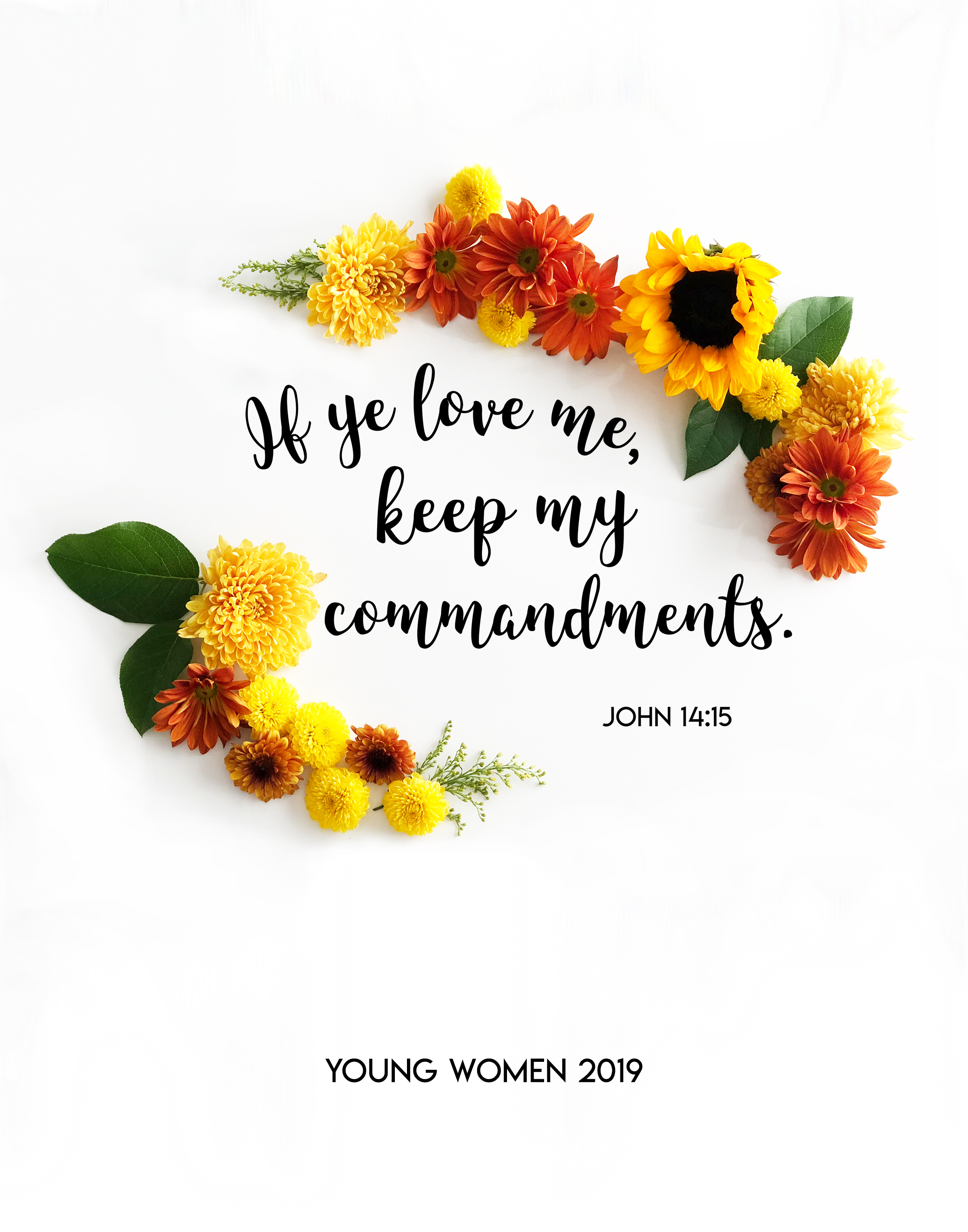 2019 Young Women Mutual Theme – FREE Printables