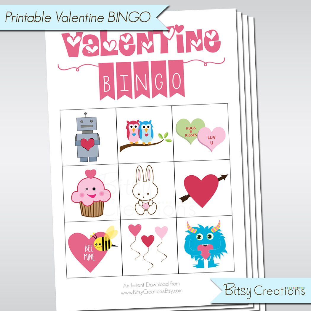 graphic about Valentine Bingo Printable identified as VALENTINE Bingo Printable Match Mounted for Preschoolers