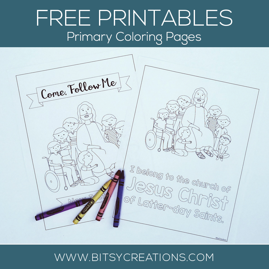 2019 Lds Primary Coloring Pages New Testament
