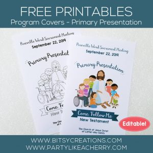 Come, Follow Me – New Testament – Free Primary 2019 Printables